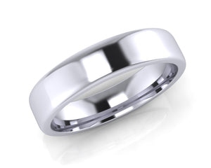 Platinum Square-Ellipse Wedding Ring 5.0mm Size T - all ring sizes available - Andrew Scott