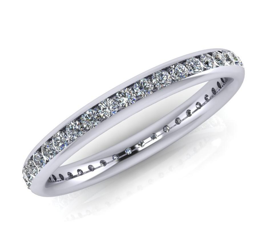 Platinum Brilliant-cut Diamond Ellipse Full Eternity Ring - Andrew Scott
