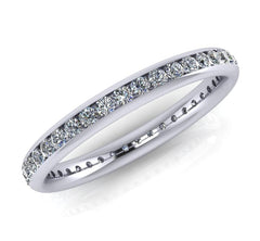 Platinum Brilliant-cut Diamond Ellipse Full Eternity Ring 0.52ct-0.65ct F/VS Certed