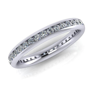 Platinum Diamond Ellipse Full Eternity Ring - Andrew Scott