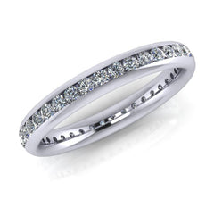 Platinum Brilliant-cut Diamond Ellipse Full Eternity Ring 0.57ct-0.68ct F/VS Certed