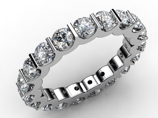 Platinum TRAPEZE Diamond Full Eternity Ring - Andrew Scott