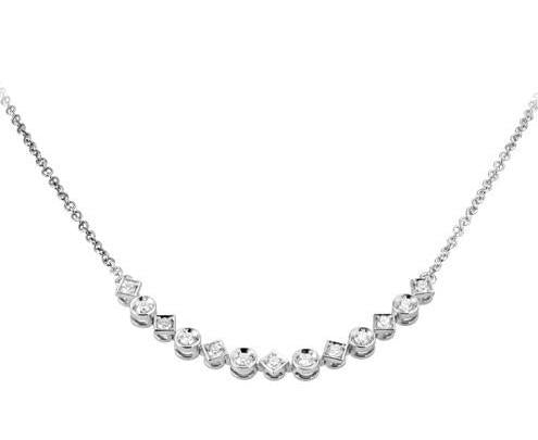18ct White Gold Harlequin Brilliant-cut Diamond Necklace - Andrew Scott
