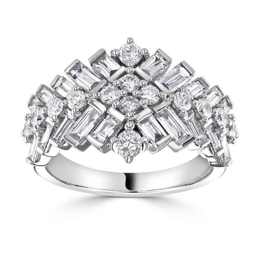 18ct White Gold Diamond RITZ Ring