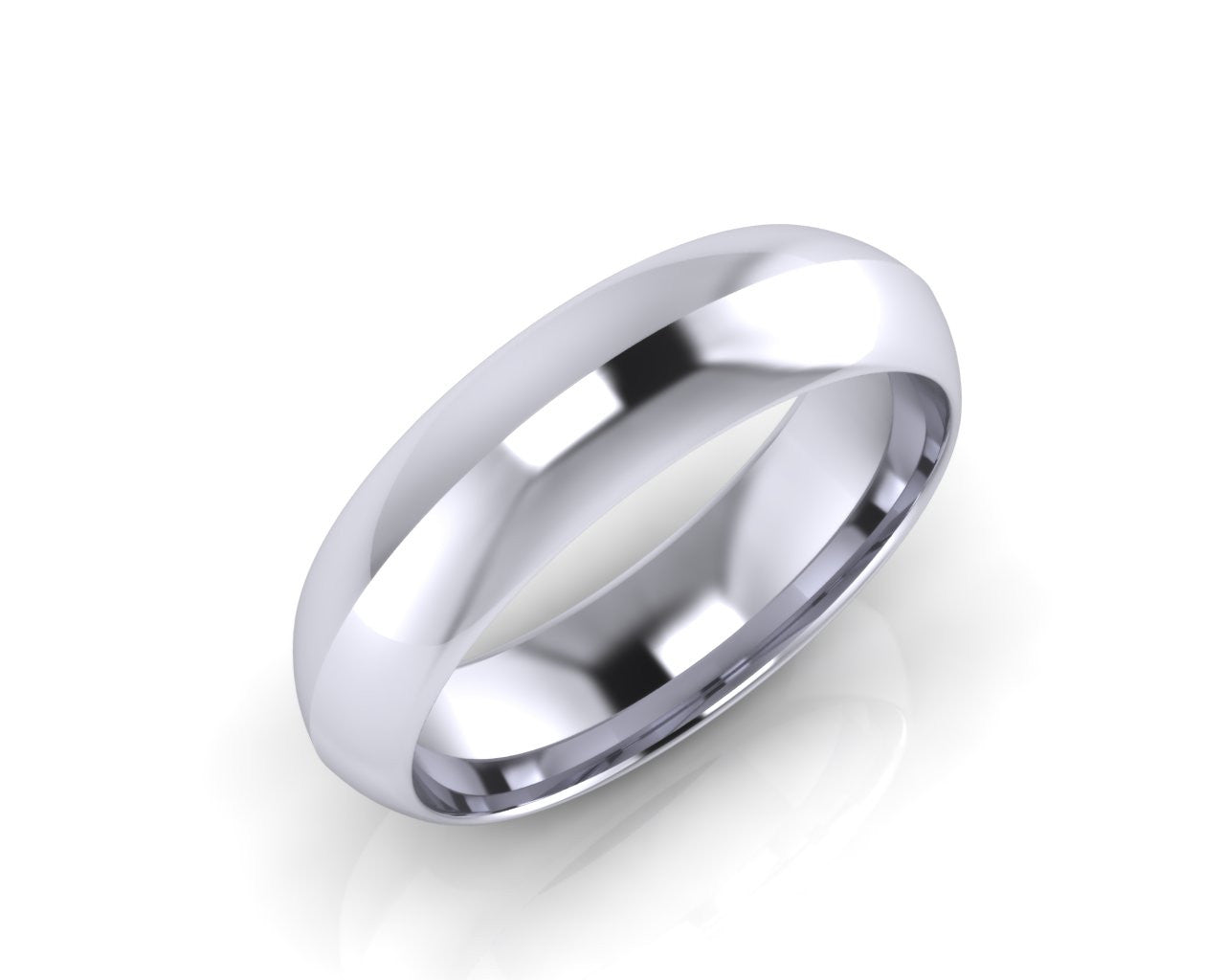 Platinum TROIKA  6mm  Convex Men's Wedding Ring