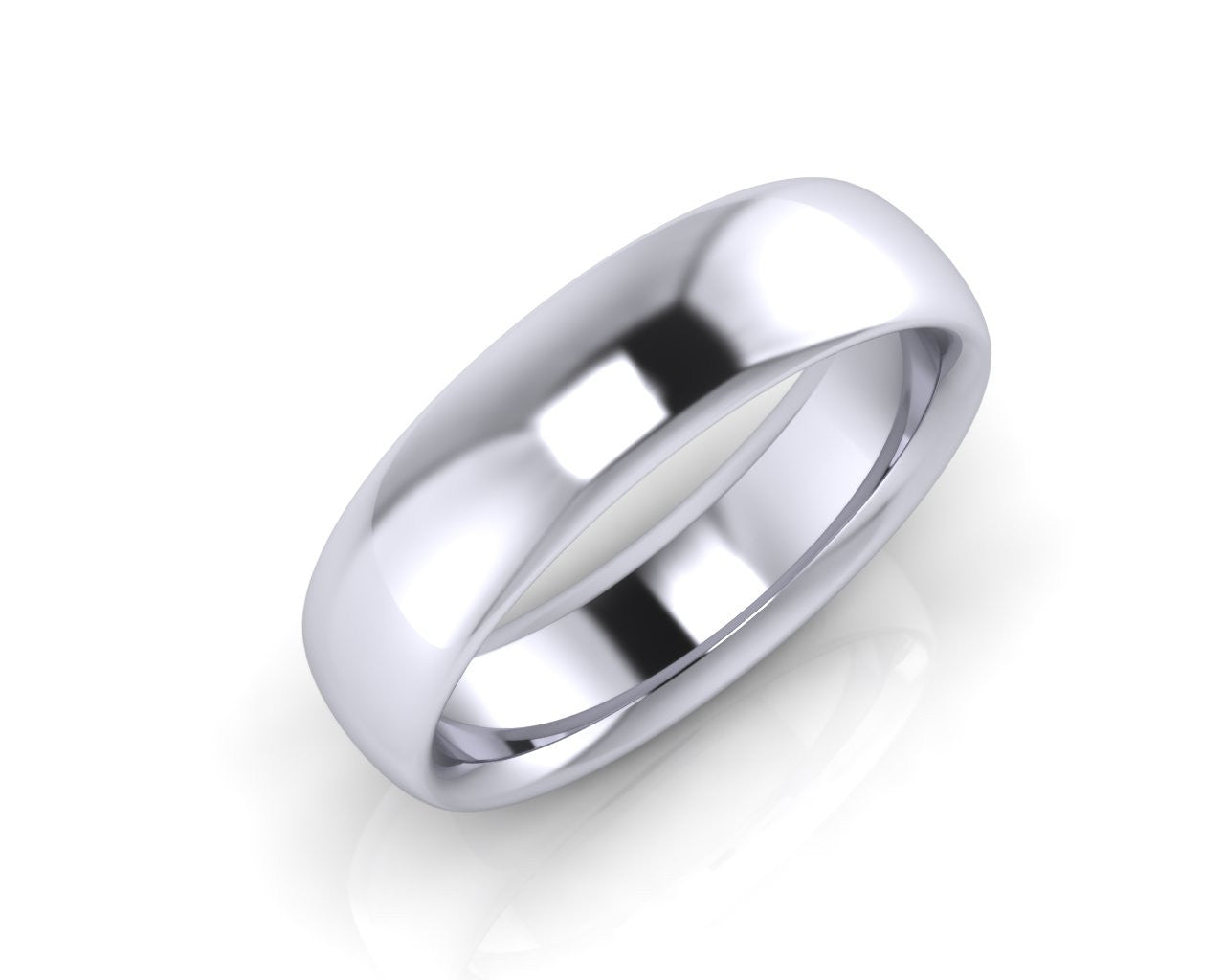 Platinum ELLIPSE 6mm Men's Wedding Ring - Andrew Scott