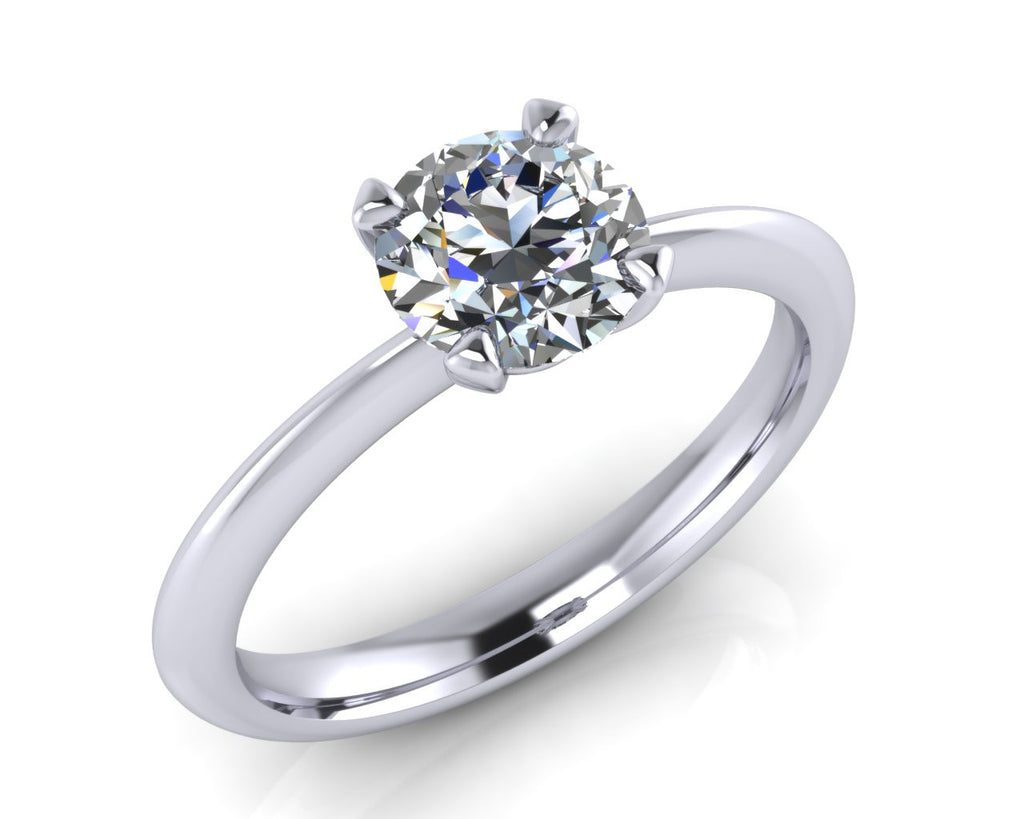 Platinum Four-Ever CLASSIC Brilliant-cut Diamond Ring - Andrew Scott