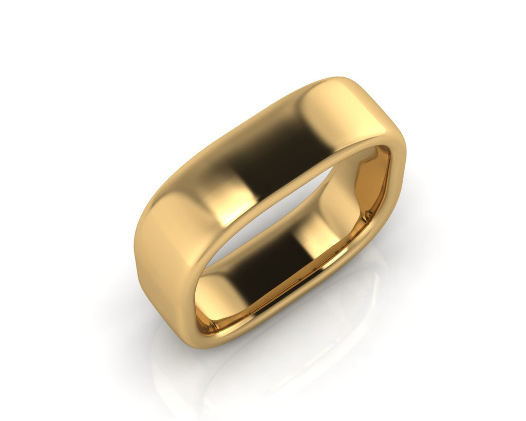 18ct Yellow Gold QUAD 6mm Men's Wedding Ring - Andrew Scott
