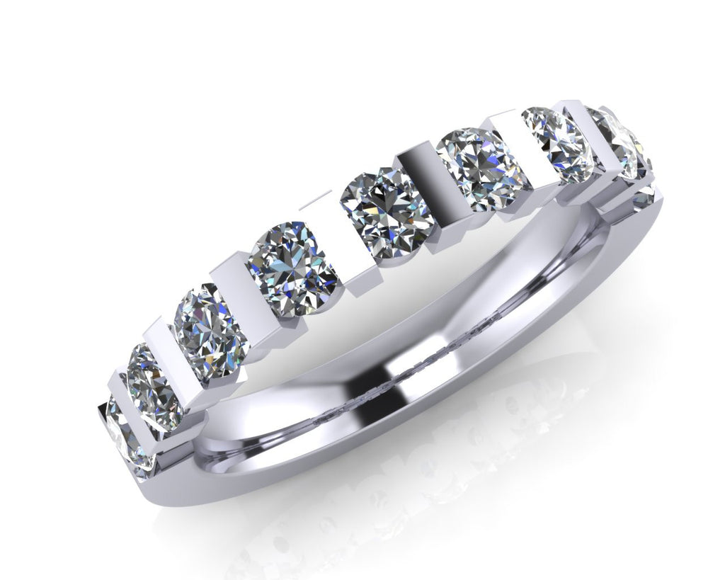 Platinum Diamond Trap-set Half Eternity Ring - Andrew Scott