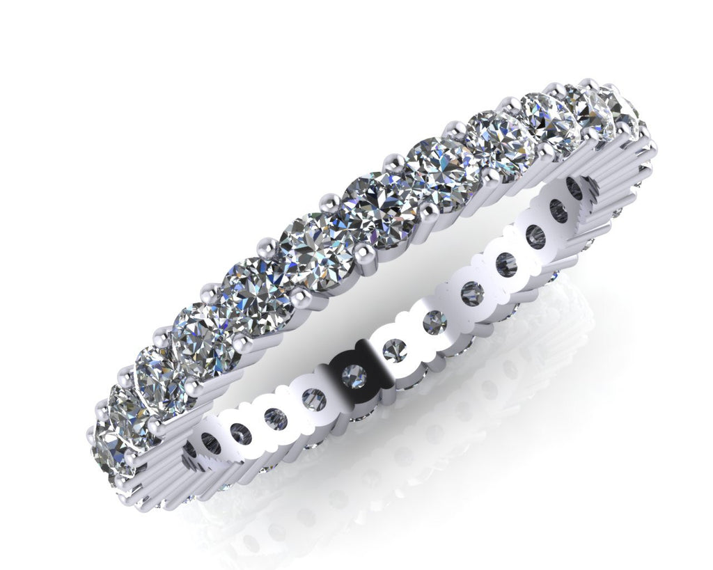Platinum Radial Claw-set Diamond Full Eternity Ring