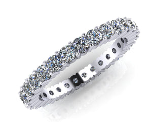 Platinum Radial Claw-set Diamond Full Eternity Ring - Andrew Scott