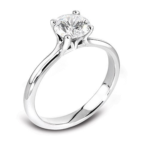 18ct White Gold 4xClaw Brilliant-cut Diamond Ring - Andrew Scott