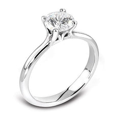 18ct White Gold 4xClaw Brilliant-cut Diamond Ring