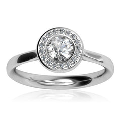 Platinum Pavé AURA Brilliant-cut Diamond F/VS1 Certificated Ring Prices: £2850-£3490