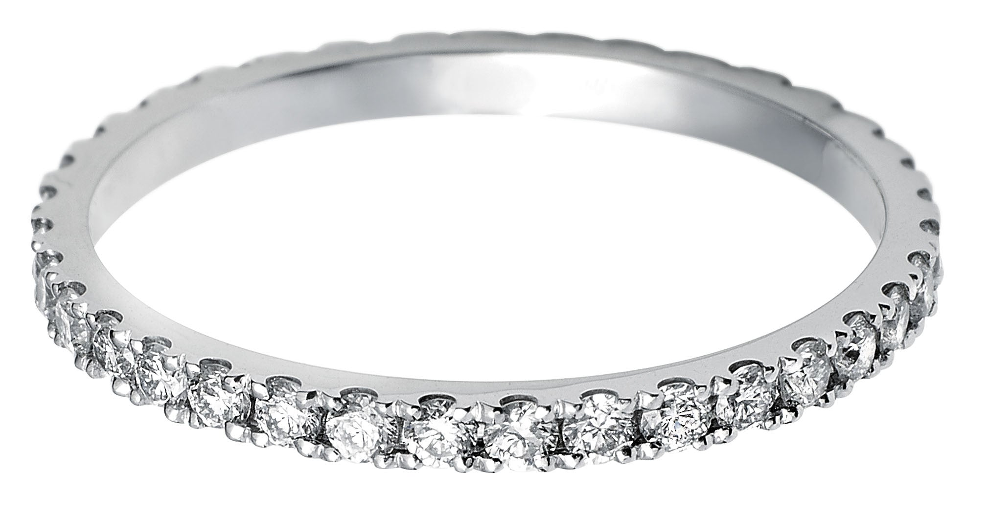 Platinum Scallop-edge Diamond Full Eternity Ring