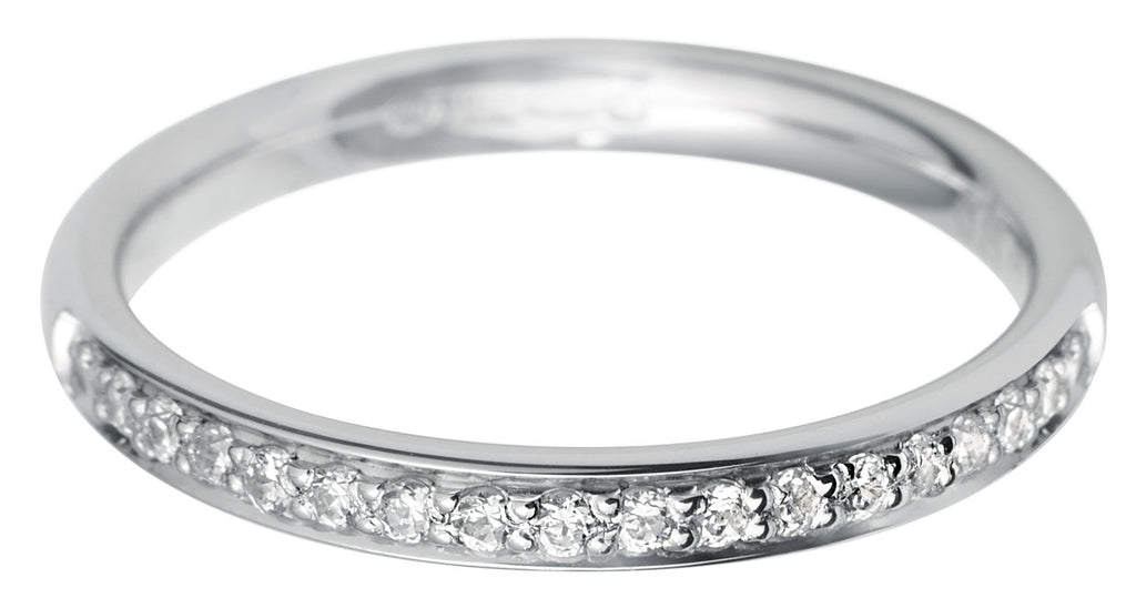 Platinum Pave Diamond Half Eternity Ring