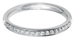 Platinum Pave Diamond Half Eternity Ring - Andrew Scott