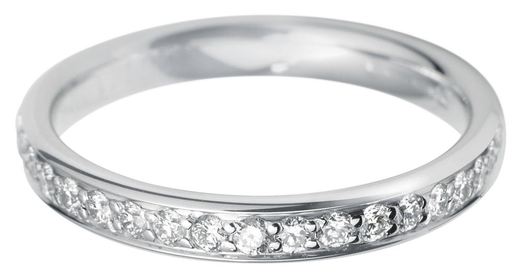 Platinum Pave Brilliant-cut Diamond Full Eternity Ring