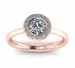 18ct Rose Gold Pavé AURA Brilliant-cut Diamond F/VS1 Certificated Ring Prices: £2550-£3250