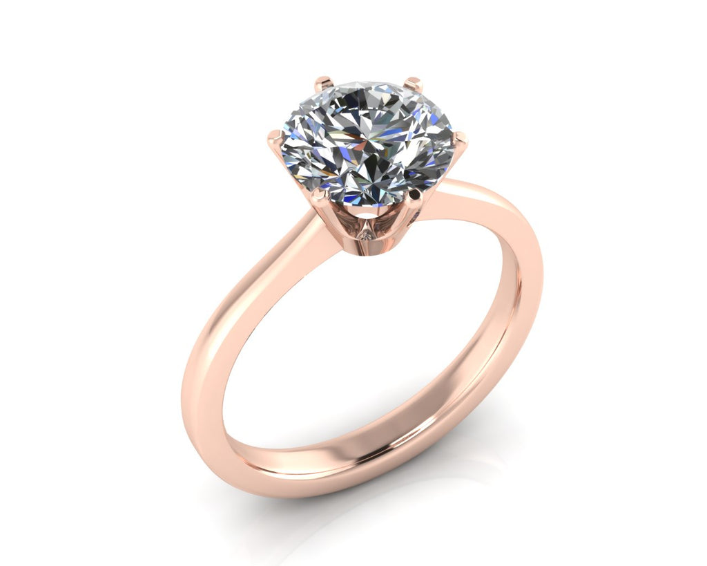 18ct Rose Gold COURONNE Diamond Engagement Ring - Andrew Scott