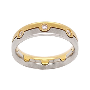 18ct Yellow & White Gold Cabochon Diamond Full Eternity Ring
