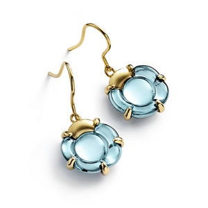 Baccarat Silver Vermeil B Flower Turquoise Earrings