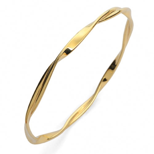 9ct Yellow Gold Twist Bangle - Andrew Scott