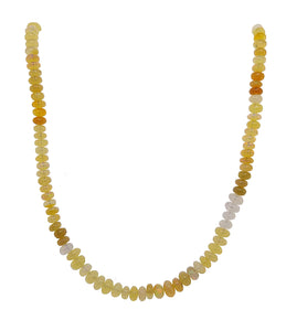 Opal Bead Necklace with Silver Yellow Gold Plate Clasp