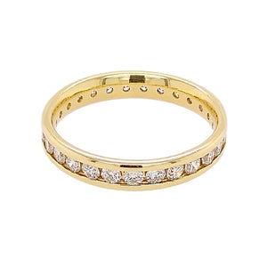 18ct Yellow Gold Channel Set Diamond Full Eternity Ring