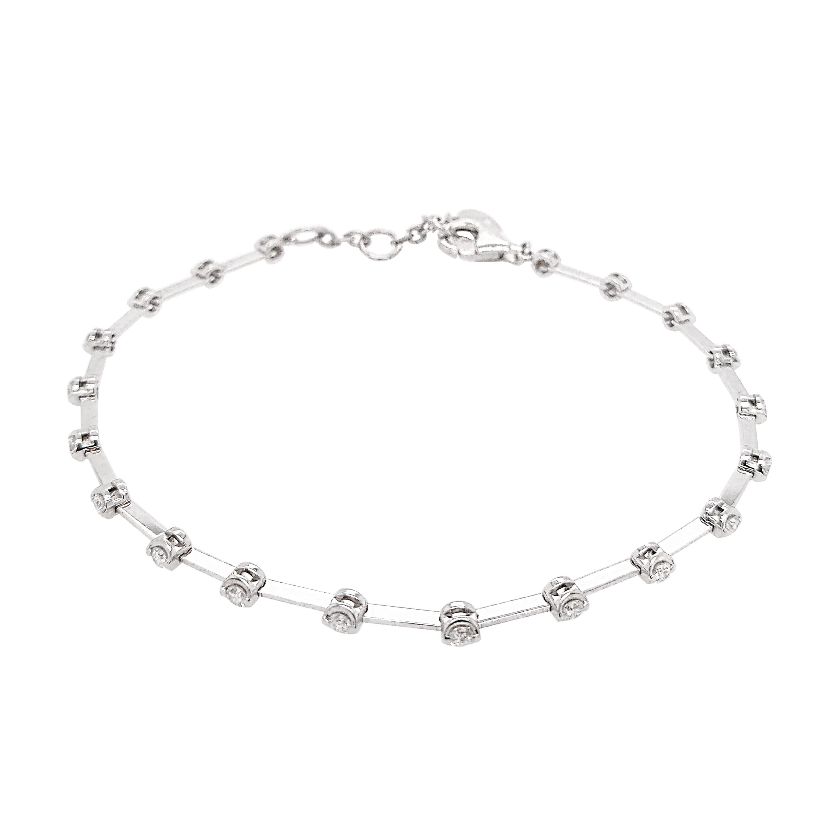 18ct White Gold Diamond Rosabella Bracelet