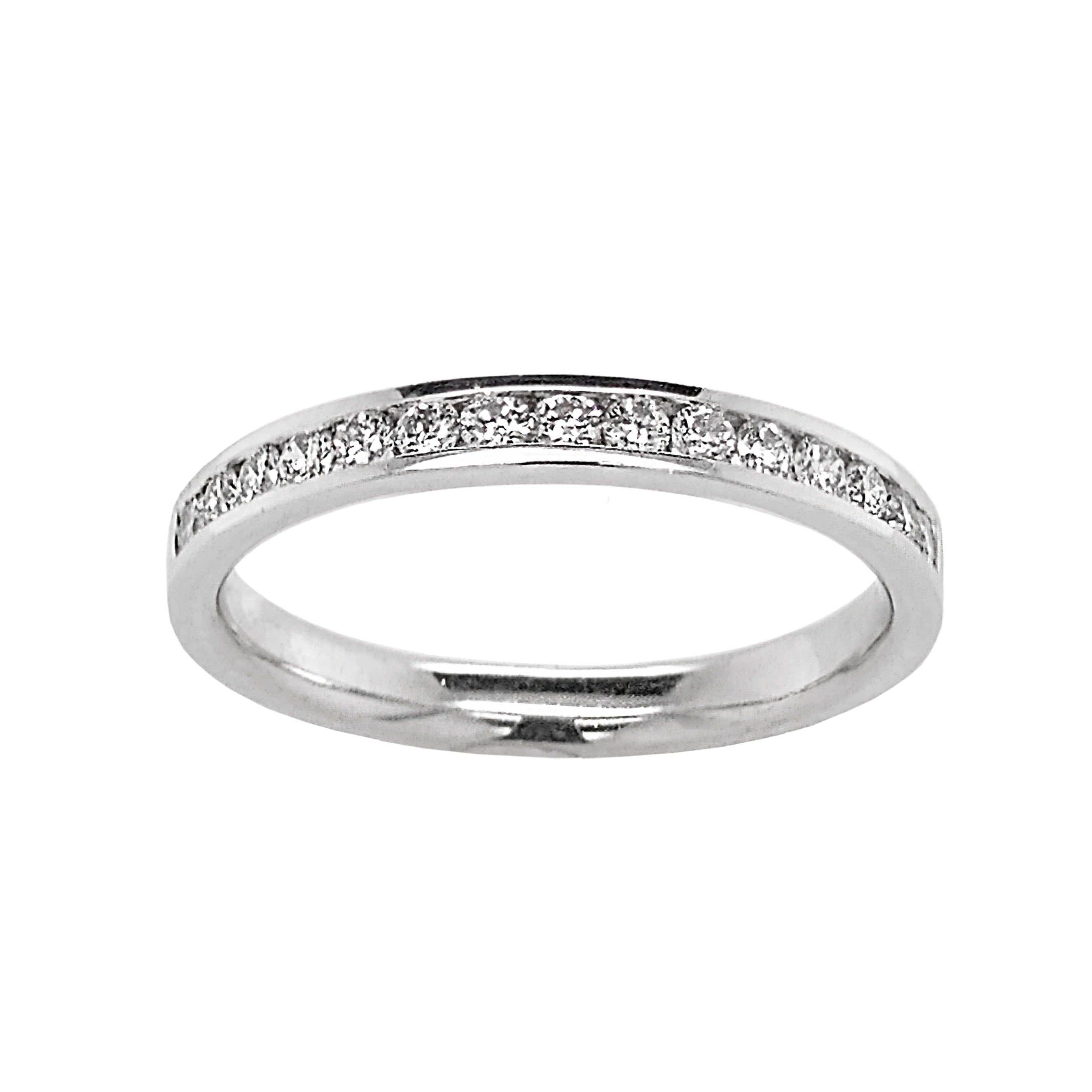 Platinum Channel Set Diamond Half Eternity Ring