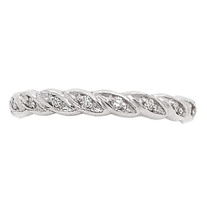 Platinum Fully Set Diamond Entwined Wedding Ring