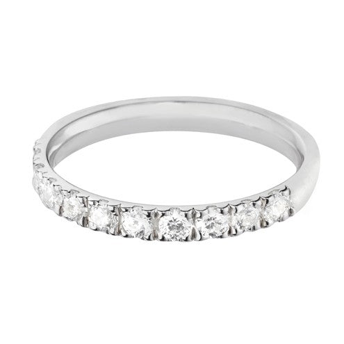 Platinum Diamond Half Eternity Ring - Andrew Scott