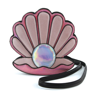 Pink Pearl Sea Shell Cross Body Mini Bag - Vivacious Vixen Apparel