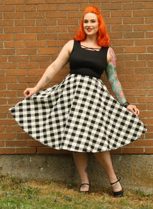 Dee Dee Dress In Checker Print