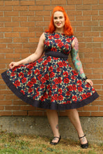 Load image into Gallery viewer, Audrey Dress in Rose Print - Vivacious Vixen Apparel