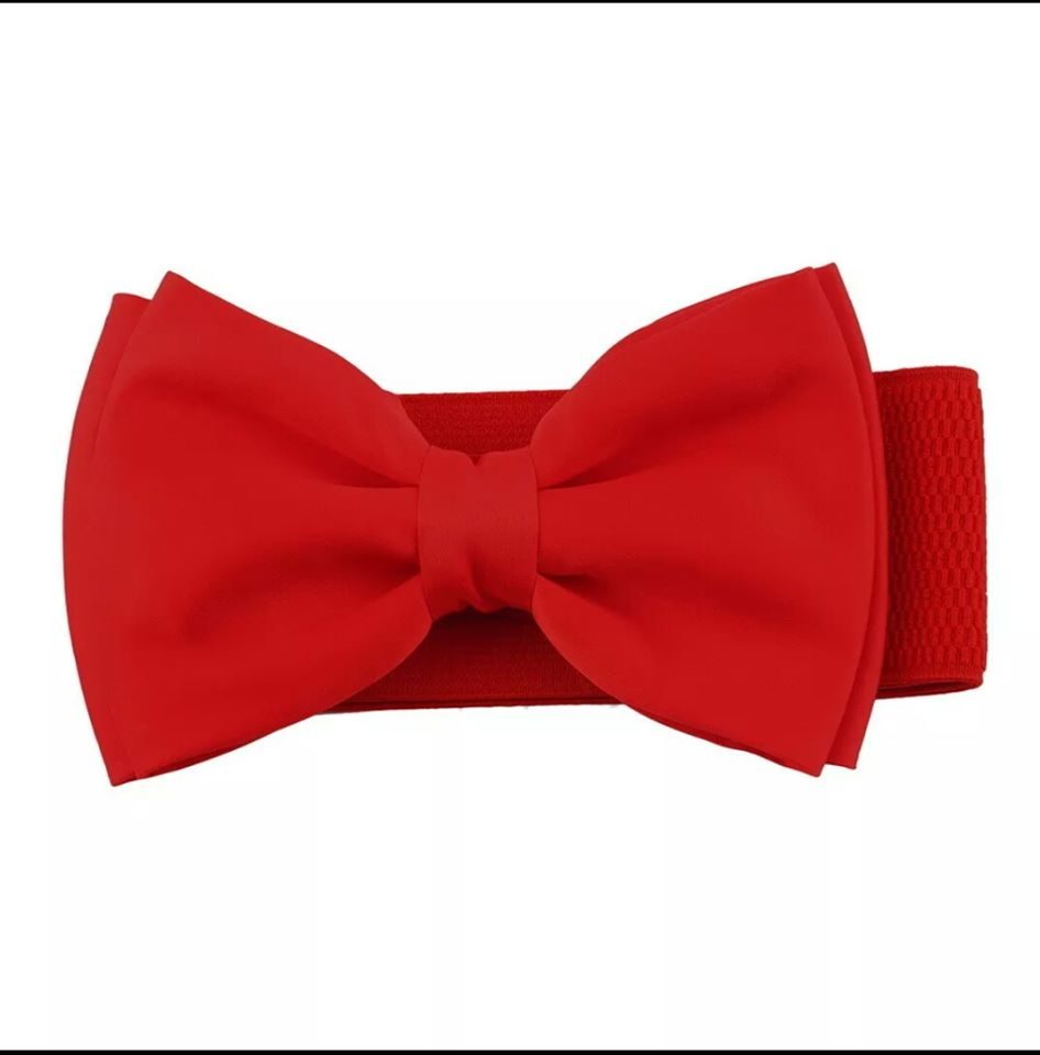 Red Bow Belt - Vivacious Vixen Apparel