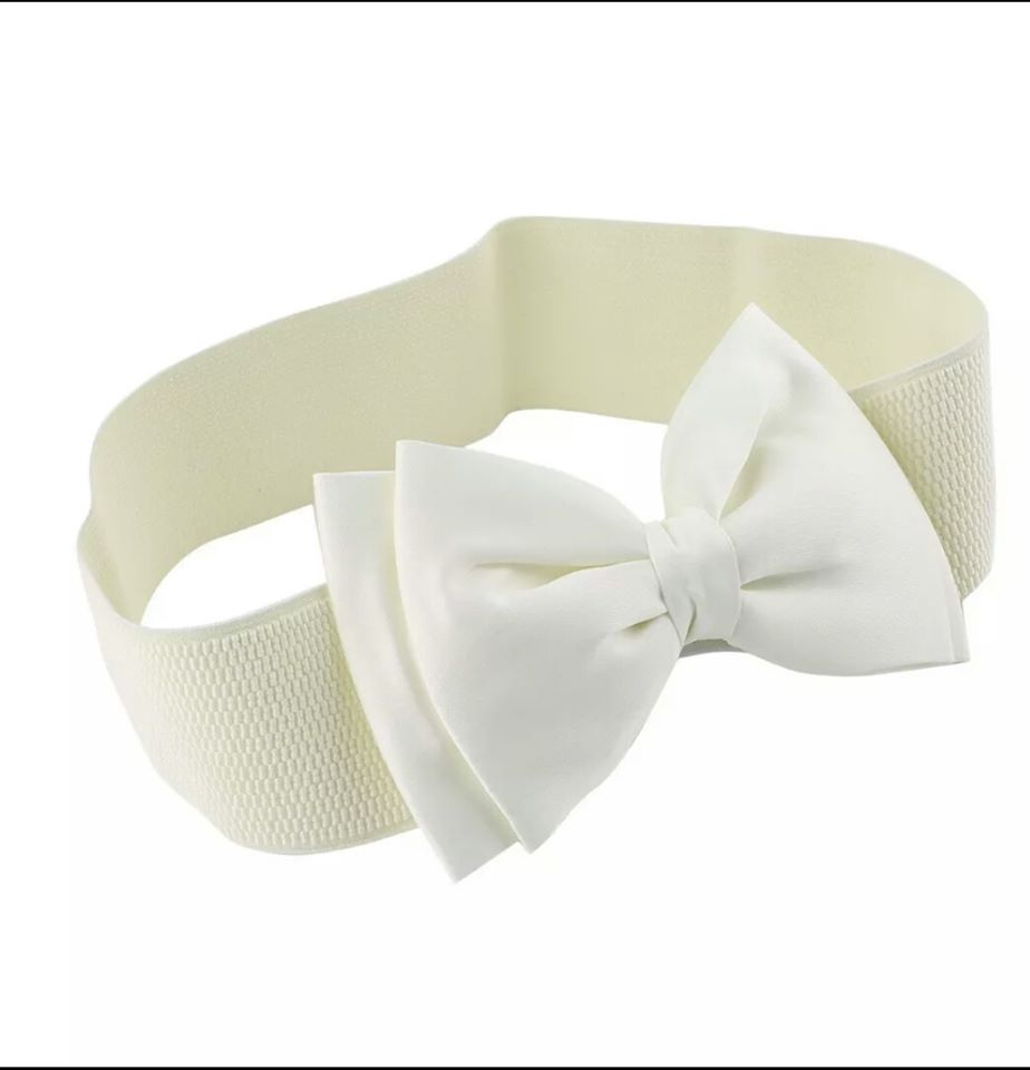 White Bow Belt - Vivacious Vixen Apparel