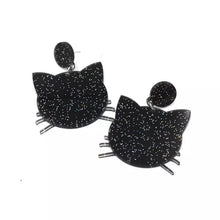 Load image into Gallery viewer, Black Cat Earrings - Vivacious Vixen Apparel