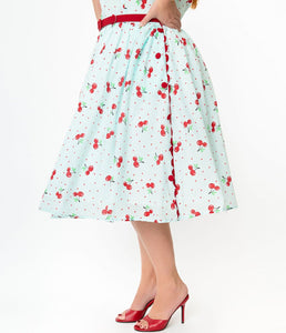 Livvie Cherry Swing Dress