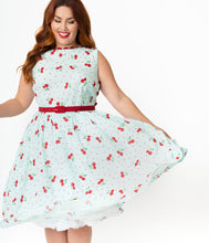 Load image into Gallery viewer, Livvie Cherry Swing Dress