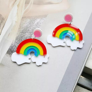 Rainbow Earrings - Vivacious Vixen Apparel