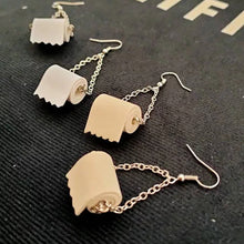 Load image into Gallery viewer, Toilet Paper Earrings - Vivacious Vixen Apparel
