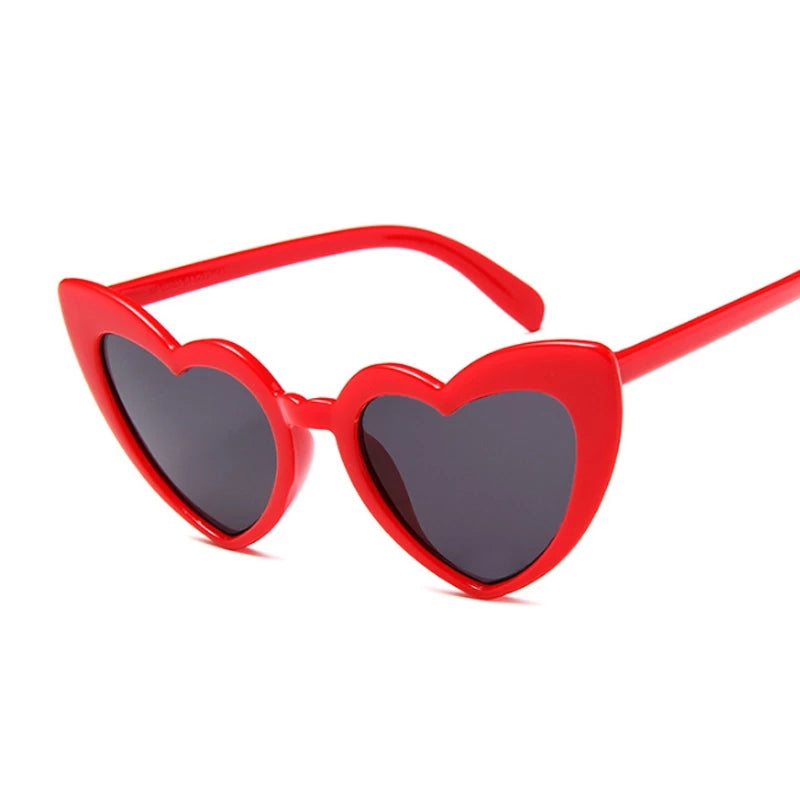 Heart Cat Eye Sunglasses Red