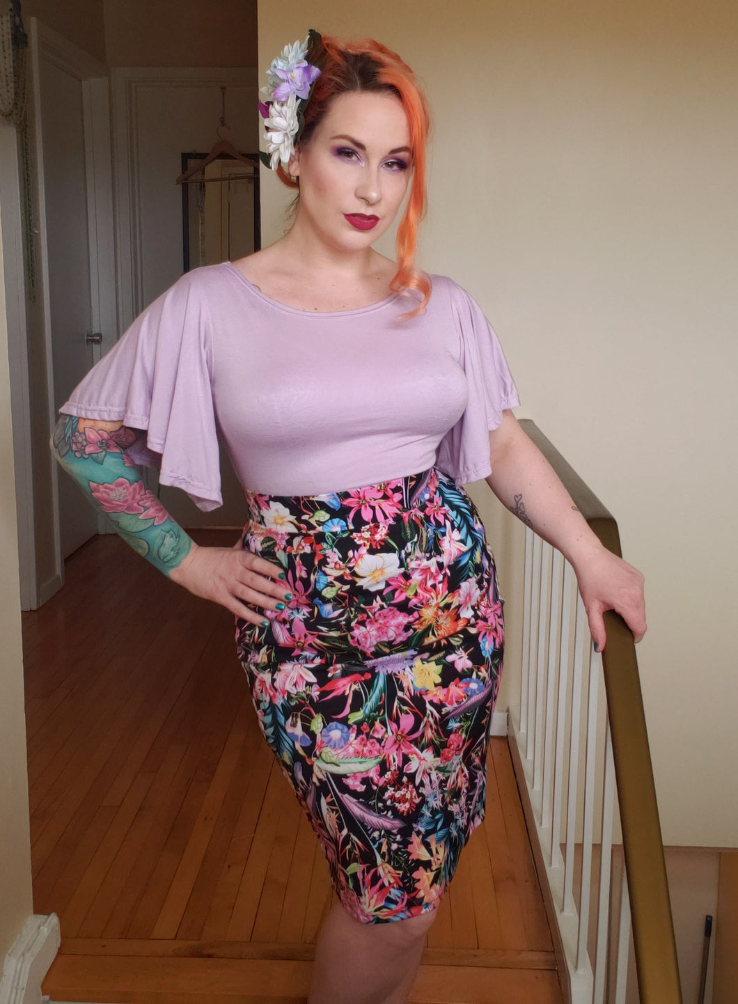 Selina Pencil Skirt - Vivacious Vixen Apparel