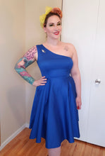 Load image into Gallery viewer, Adrianna Dress in Blue - Vivacious Vixen Apparel
