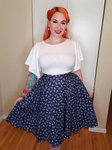 Anchor Circle Skirt - Vivacious Vixen Apparel