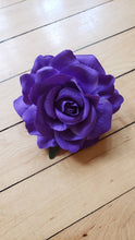 Load image into Gallery viewer, Purple Rose Hair Flower