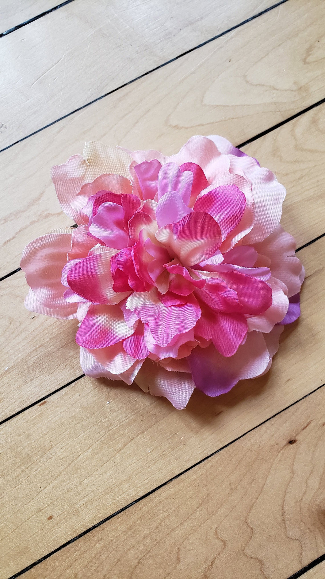 Pink Peony Hair Flower - Vivacious Vixen Apparel