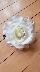 White Rose Hair Flower - Vivacious Vixen Apparel